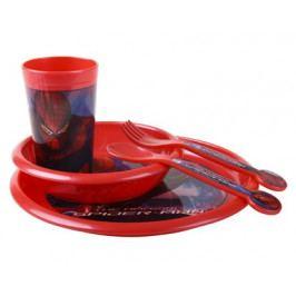 Dětská jídelní plastová sada SPIDERMAN, 5 ks, OK