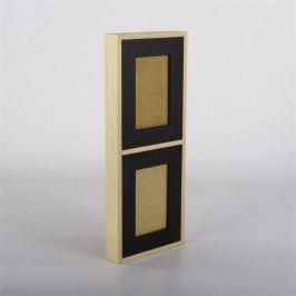 Nástěnný rámeček pro 2 fotky Frame, 45 cm, černá