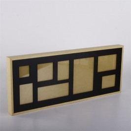 Nástěnný rámeček pro 8 fotek Frame, 61 cm, černá