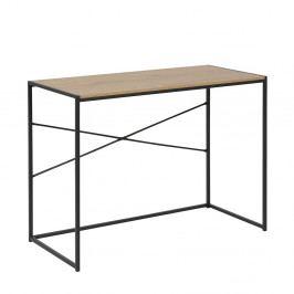 Pracovní stůl 100x45 v dekoru dub sonoma s černou kovovou konstrukcí DO103
