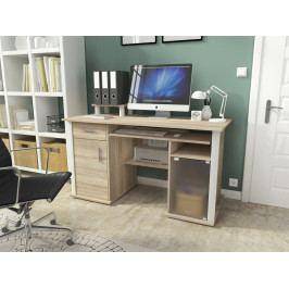 Pracovní stůl 135x60 cm s výsuvnou policí v dekoru dub sonoma KN1117