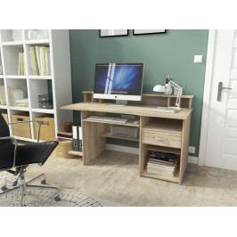 Pracovní stůl 151x70 cm s výsuvnou policí v dekoru dub sonoma KN1117