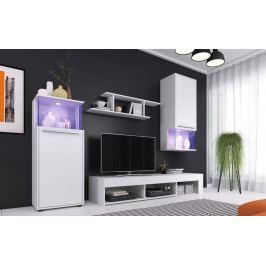 Obývací stěna v bílé matné barvě KN1161