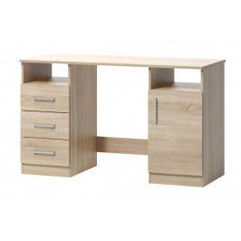 Psací stůl v jednoduchém designu v dekoru dub sonoma 1d3s F1461