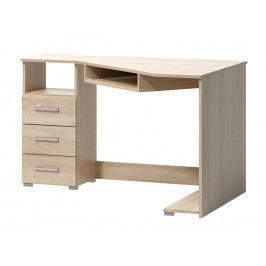 Rohový psací stůl v jednoduchém designu v dekoru dub sonoma F1461
