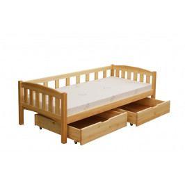 Dětská postel s úložným prostorem z masivu borovice TEREZKA B926