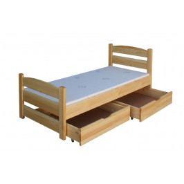 Moderní dětská postel z masivu smrk EMČA B929