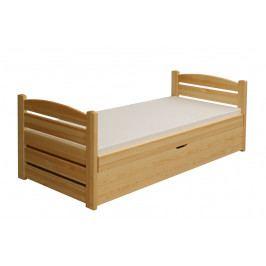 Moderní dětská postel s úložným prostorem z masivu borovice MIŠKA B930
