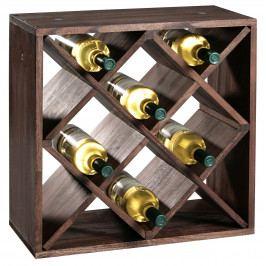 Stojan na víno borovice tmavé moření E435