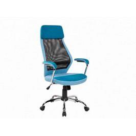 Kancelářská židle modrá ekokůže  OF057