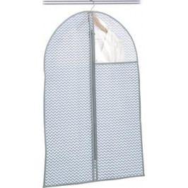 Závěsný obal na šaty malý šedobílá textilie E442