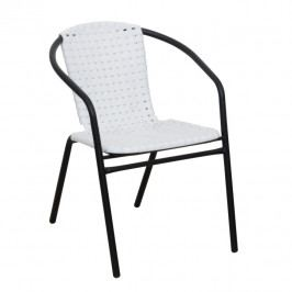 Stohovatelná zahradní židle v bílo-černé barvě TK4003