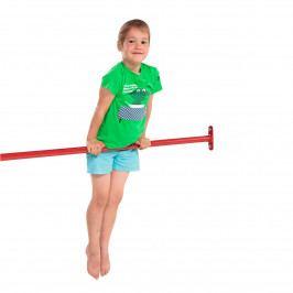 Dětská kovová hrazda rovná 90 cm červená