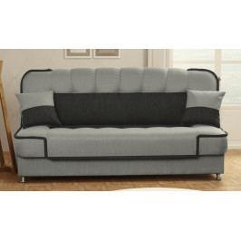 Rozkládací pohodlná pohovka s úložným prostorem ve světle šedé barvě KN330