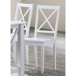 Dřevěná jídelní židle v bílé barvě KN1211