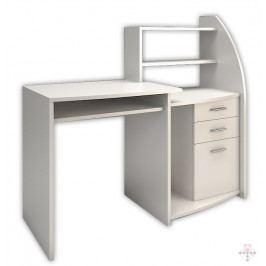 Psací stůl s úložným prostorem v bílé barvě KN1240