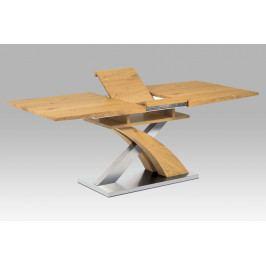 Jídelní rozkládací stůl rozkládací 160x90 cm v dekoru dub divoký HT-718 OAK AKCE