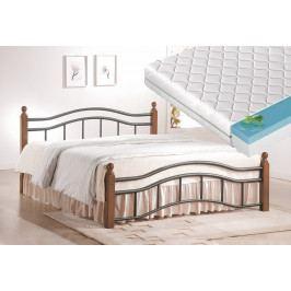 Manželská postel 180x200 cm v klasickém stylu s roštem a matrací FUTURA 180 KN368