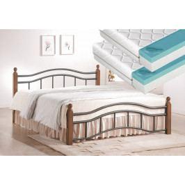 Manželská postel 180x200 cm v klasickém stylu s roštem a matrací FUTURA 2x90 KN368