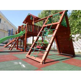 Gumová dlaždice červená 50x50x4 cm pro dětská hřiště