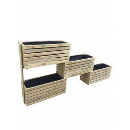 Dřevěný záhon modulový s geotextilií