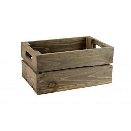 Dřevěná bedýnka šedá 30x20 cm