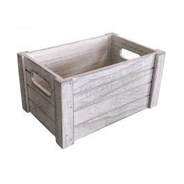 Dřevěná bedýnka 26x17 cm WHITE WASH