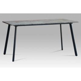 Jídelní stůl v barvě černé a beton MDT-2100 BET AKCE