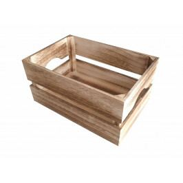 Dřevěná bedýnka opalovaná 30x20 cm UT-4
