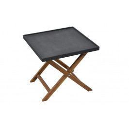 Zahradní stolek odkládací 50x50 cm tmavě šedý AMY