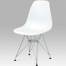 Jídelní židle plastová bílá CT-711 WT