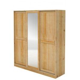 Skříň smrk 3dveř,posuv.dveře+zrcadlo B724