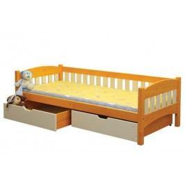 Dětská postel s ohrádkou 90x200 cm