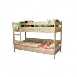 Patrová dětská postel z masivního dřeva - 90x200cm, masiv smrk B481