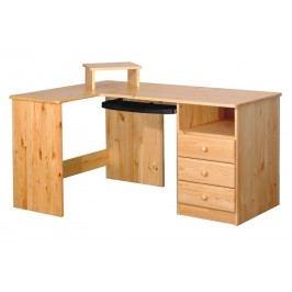 Psací stůl rohový - 3 zásuvky B041
