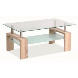 Stylový konferenční stolek v barvě dub sonoma typ BASIC KN128