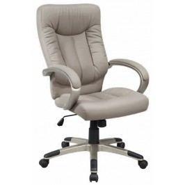 Elegantní kancelářské křeslo čalouněné šedou koženkou typ Q066 KN105