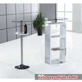 Barový kuchyňský pult v luxusním designu MELINA - NEW bílá ve vysokém lesku