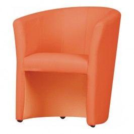 Křeslo v jedoduchém moderním designu oranžová CUBA