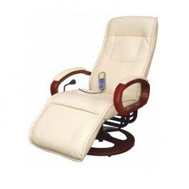 Masážní křeslo v luxusním koženém provedení béžové ARTUS