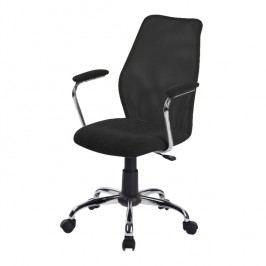 Kancelářská židle v jednoduchém moderním provedení černá BST 2003