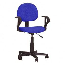 Kancelářská židle v jednoduchém moderním provedení modrá TC3-227