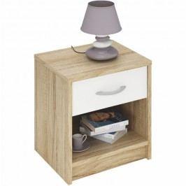 Noční stolek v moderním dubovém dekoru BISI 163755