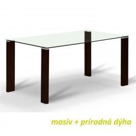 Jídelní stůl v jednoduchém skleněném provedení wenge NEMEZ