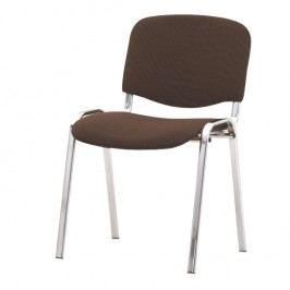 Konferenční židle v jednoduchém moderním provedení hnědá ISO
