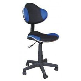 Dětská kancelářská židle - černá/modrá KN045