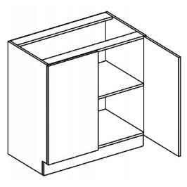 D80 dolní skříňka dvojdvéřová DARK BIS