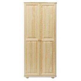Klasická šatní skříň z borovicového dřeva typ FS103 KN095