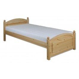 Dřevěná klasická postel o šířce 80 cm typ KL126 KN095