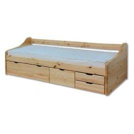 Dřevěná klasická postel se zásuvkami o šířce 90 cm typ KL131 KN095